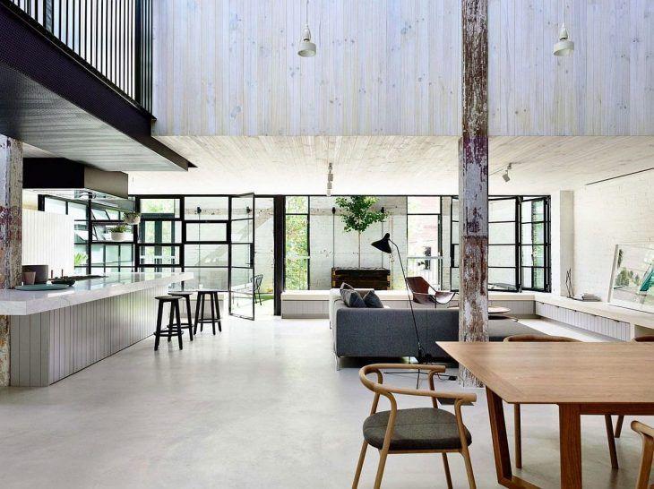 Rénovation d\'une usine en loft moderne et lumineux   Lofts and Kitchens