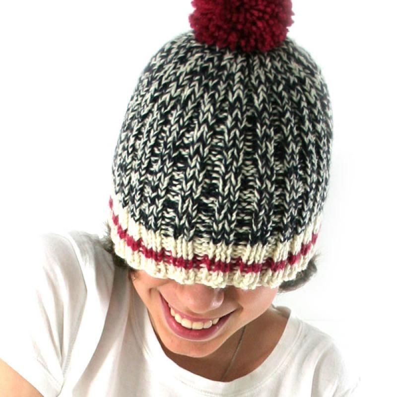 Sock Monkey Hat knitting pattern at Knitca.com  325945d0b91