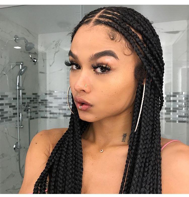 India Love 💁🏻😍 #braids #piercings #eyebrows #makeuplover #issalook Pinterest:ohsokels 🌻🌹 | Box ...
