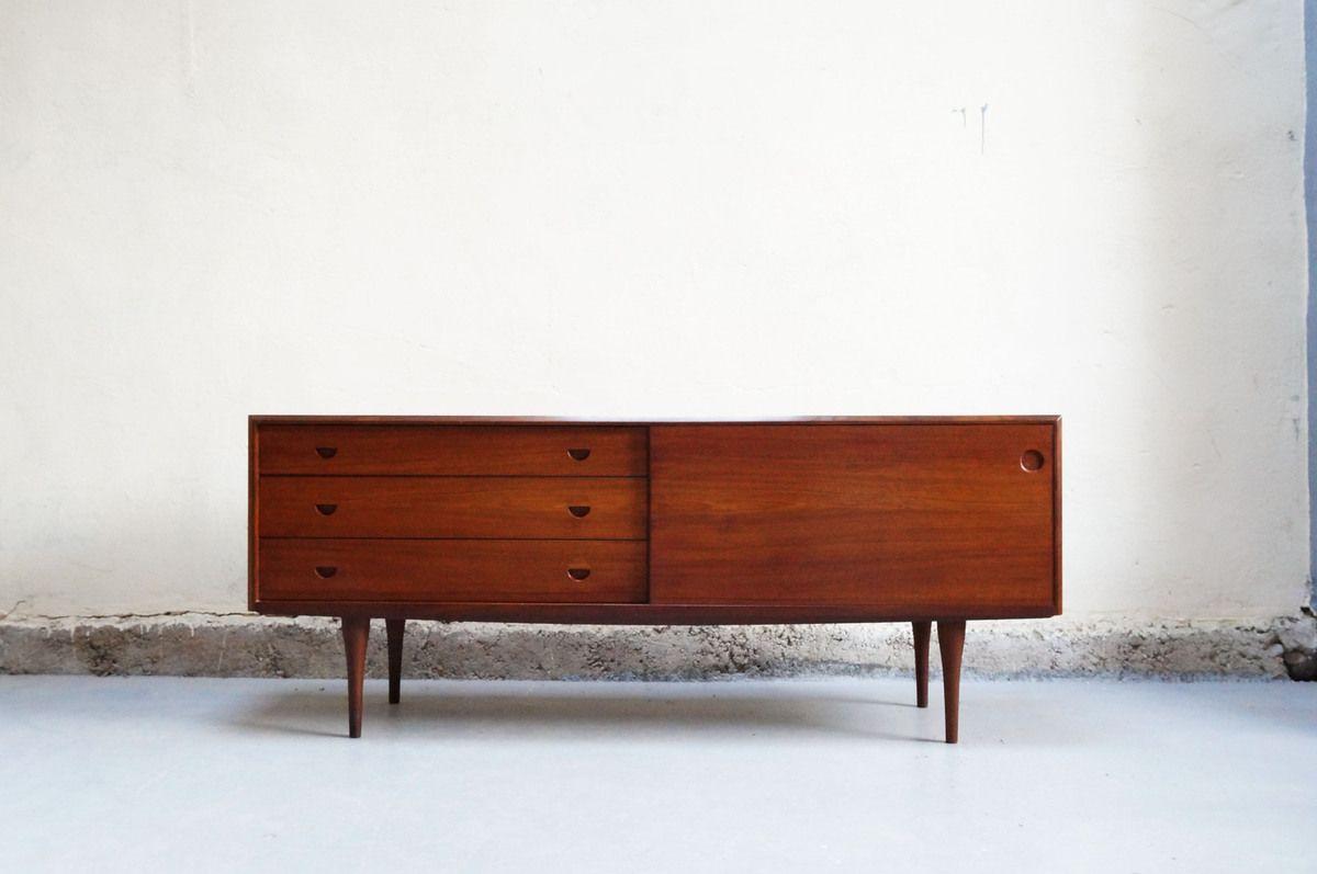 Enfilade Scandinave Danoise Ann Es 50 60 70 Teck Vintage Design  # Meuble Bas Teck