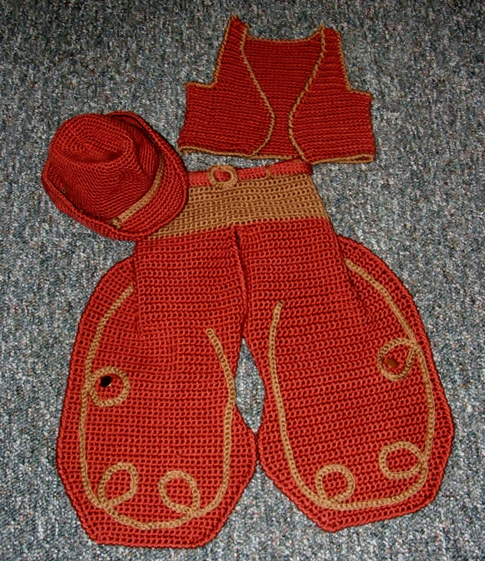 Big Buckaroo-Crochet Pattern | Baby vest, Vest pattern and Crochet baby