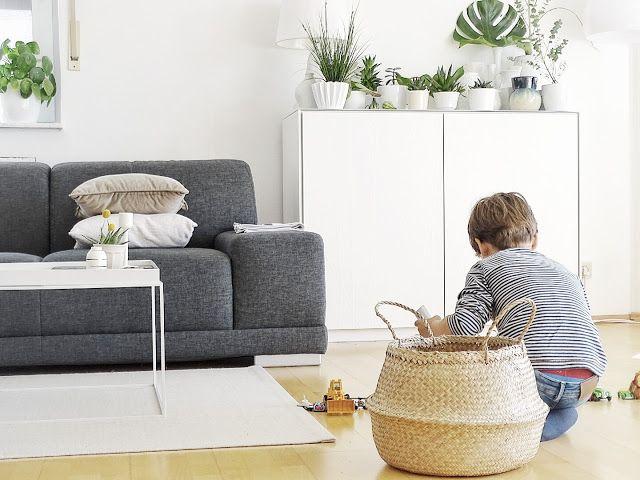 Grün auf Weiß - pflanzen für wohnzimmer