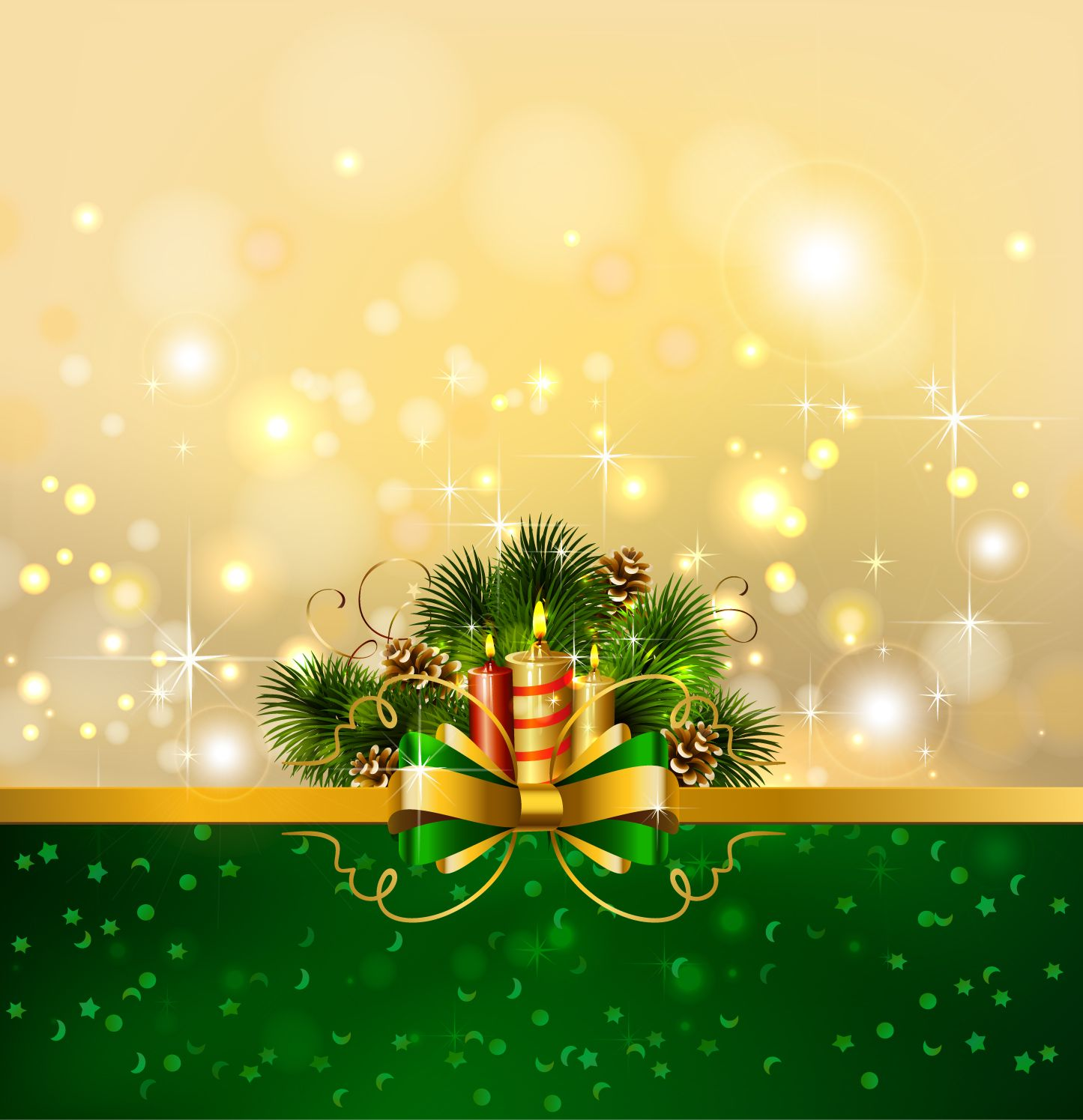 beautiful christmas background 04 vector free vector / 4vector