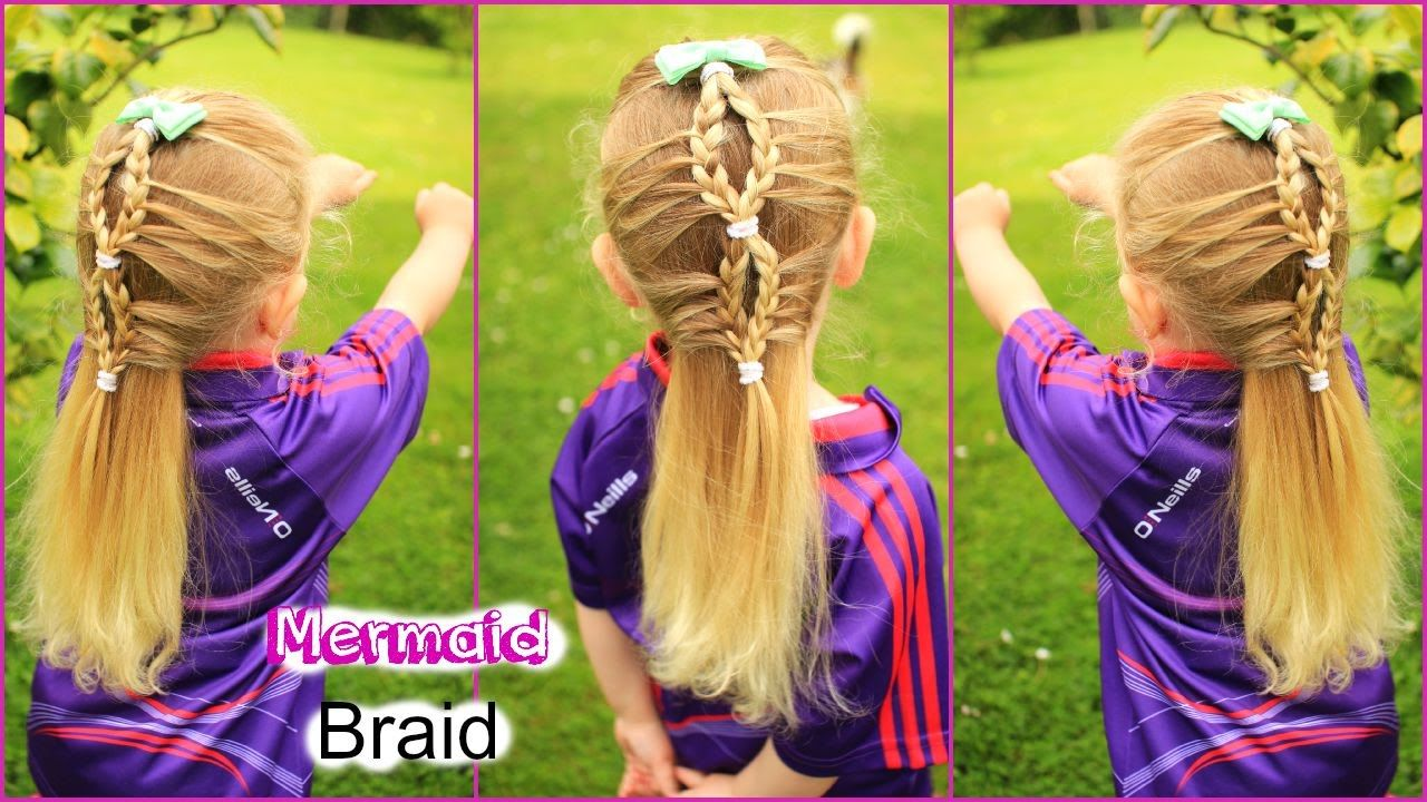 Mermaid braid cute girly hairstyles pretty hair style for girls