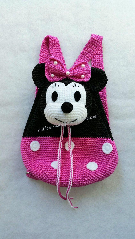 Minnie Mouse backpack, Handmade crochet backpack birthday gift ...