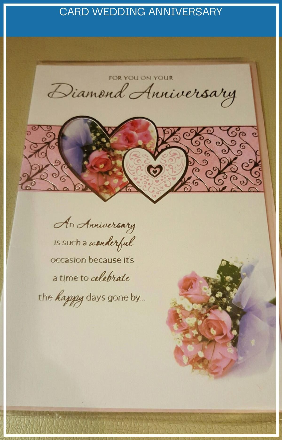14 Best Card Wedding Anniversary Diamond Wedding Anniversary Cards Anniversary Photo Cards Wedding Anniversary Cards