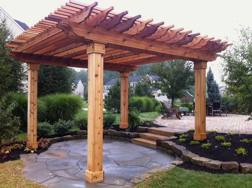 Cedar Pergola Design | 12 Beautiful DIY Wood Garden Pergola Designs To  Create To Accent Your Home #garden_pergola #pergolas - Cedar Pergola Design 12 Beautiful DIY Wood Garden Pergola Designs