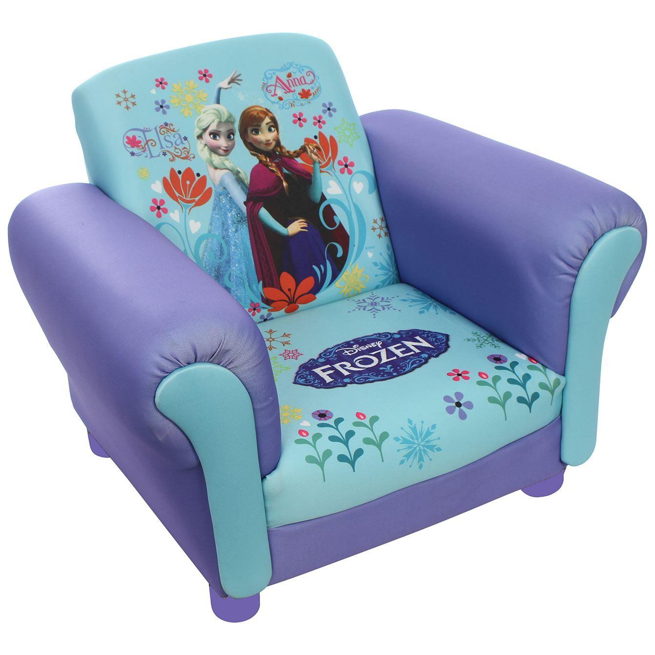 Childrens Disney Kids Frozen Anna U0026 Elsa Mickey Mouse Cartoon UPHOLSTERED  Chair | EBay