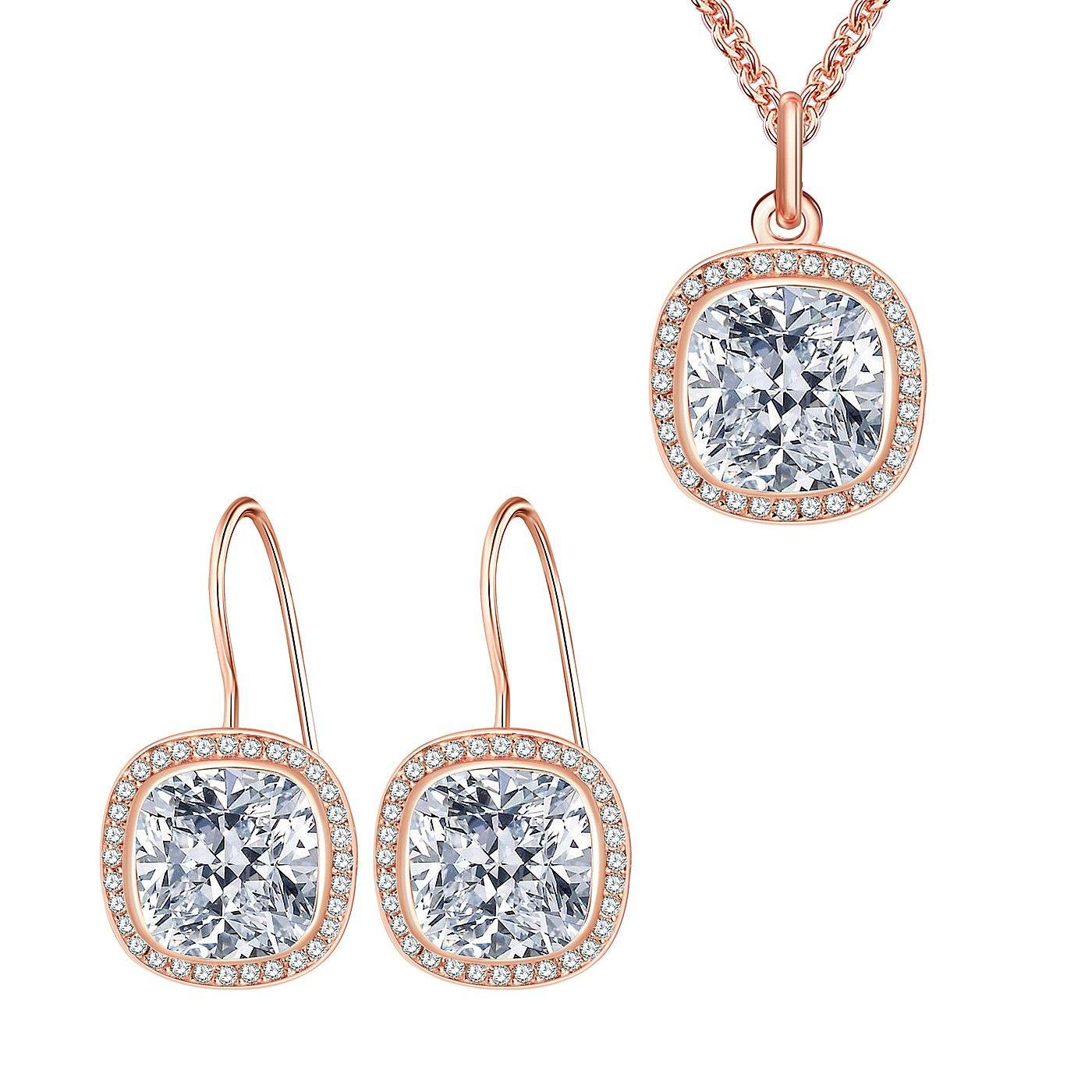 Set Nahla Jewels Parfum de Mireasă (cercei, colier, pandantiv)