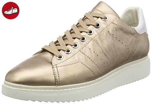 Damen D Avery A Sneakers, Gold (CHAMPAGNECB500), 36 EU Geox