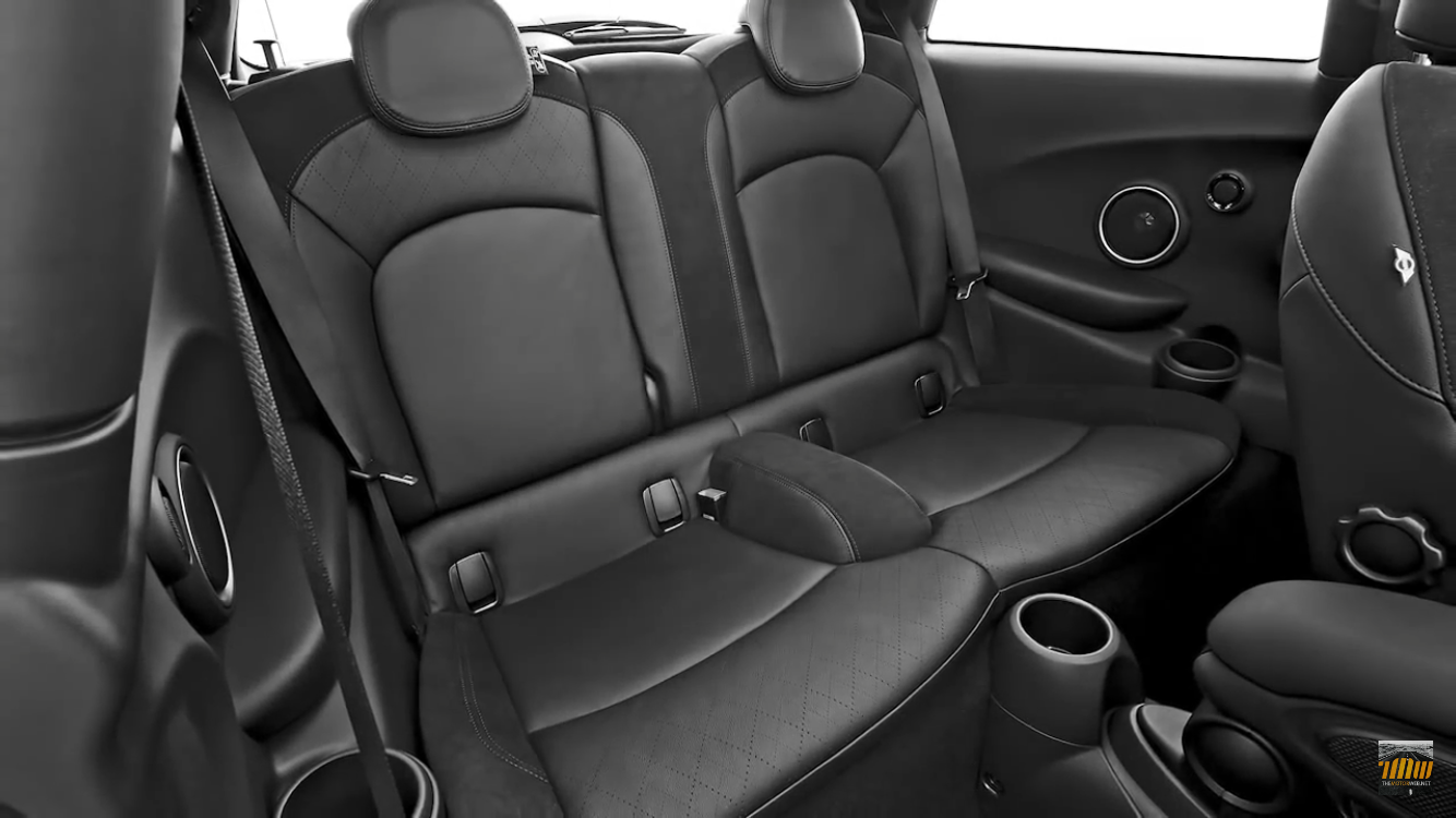 Leather Cross Punch Carbon Black Seats Mini F56 Mini