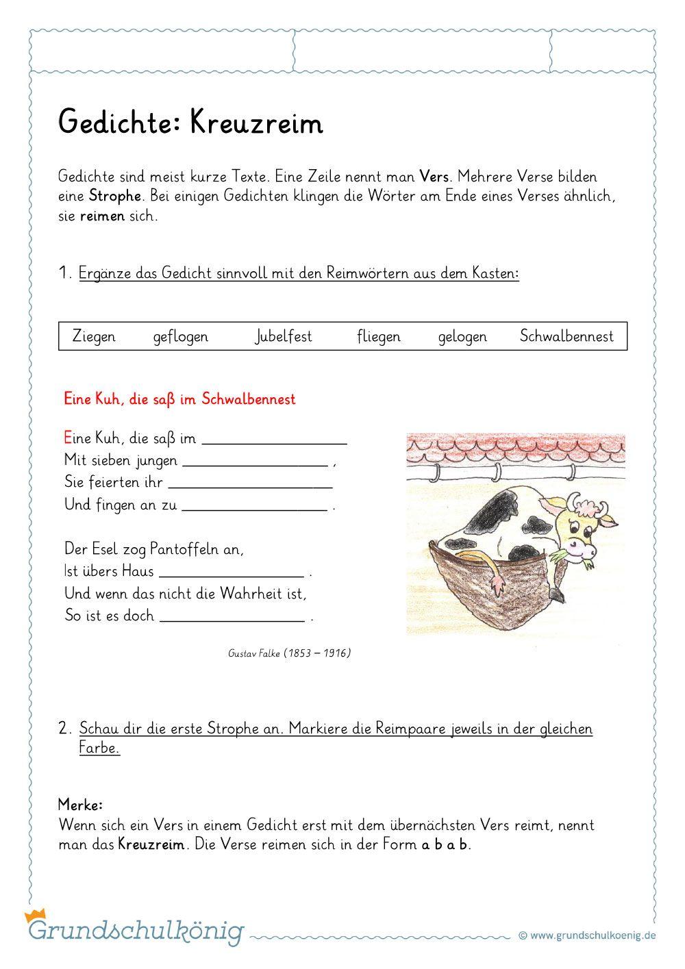 Kostenlose Arbeitsblatter Und Ubungen Zum Thema Gedichte Reime Elfchen Akrostichon Rondell Fur Deutsch An Der Grundschu Gedichte Reime Gedicht Grundschule