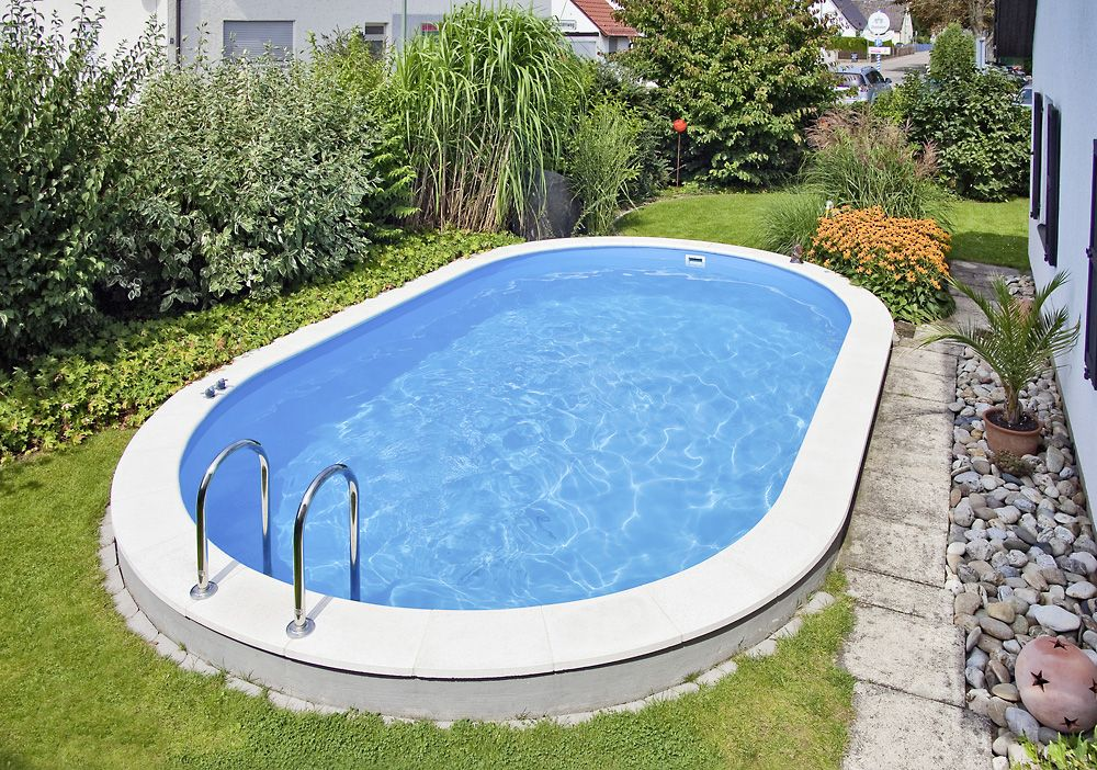 Ovalformpool Pool selber bauen Ideen zum Schwimmen und Entspannen - schwimmbad selber bauen