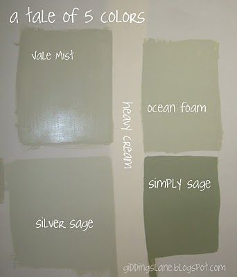 Giddings Lane The Finale To The 5 Colors Sage Green Paint Color Sage Green Paint Silver Sage Paint