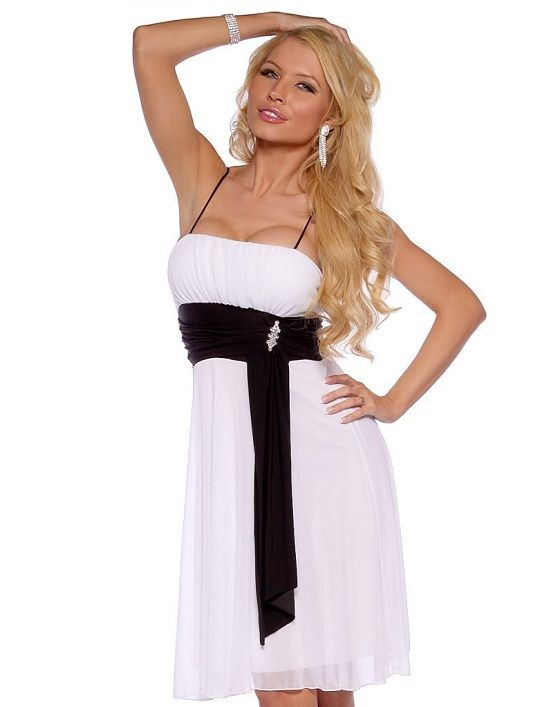 Cheap Black And White Graduation Dresses Under 50 Dollars 2013 2014