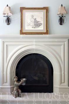 Old World Stoneworks Custom Rothton Cast Stone Fireplace Mantel Without Its Keystone See It At Www Lindatuorto