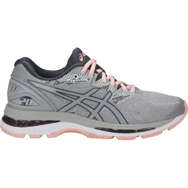 Asics Women's GEL Nimbus 20 Running Shoes, Size: 6.0, Gray