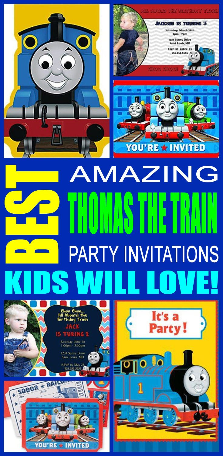 Best Thomas The Train Party Invitations Kids Will Love | Party ...