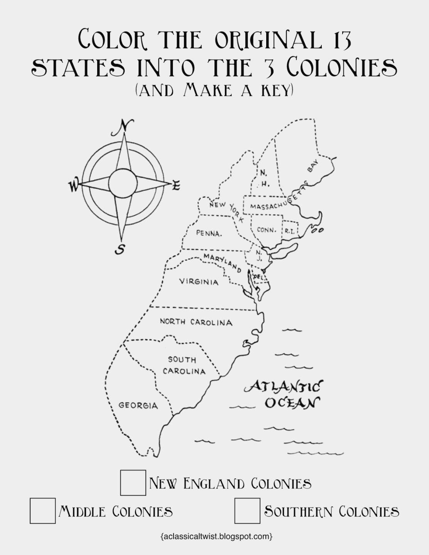 Unique 13 Colonies Flag Coloring Page