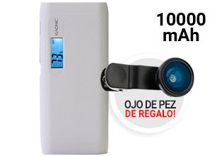 KIT Smart Power Bank Gadnic 10000 mAh + Lente ojo de pez