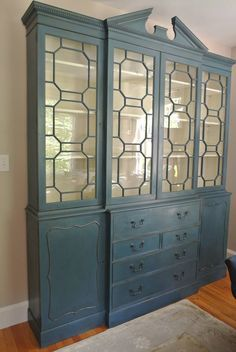 A Gorgeous China Cabinet Finished In Aubusson Blue Chalk Paint® Decorative  Paint By Annie Sloan And Soft Wax   By Farmhouse Blues Interiors