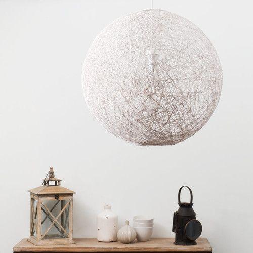 suspension luminaire boule blanche | Lighting design | Lighting ...