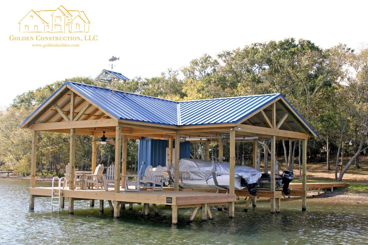 Easy Does It Boat Dock Golden Construction Llc In 2020 Lakefront Living Lake House House Boat