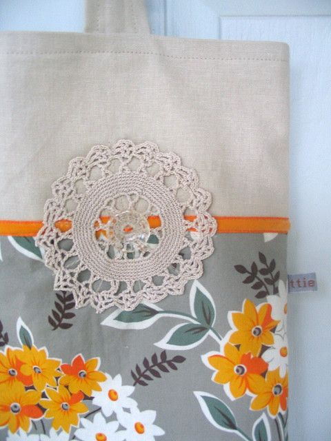 love the grey and orange - by dottie angel
