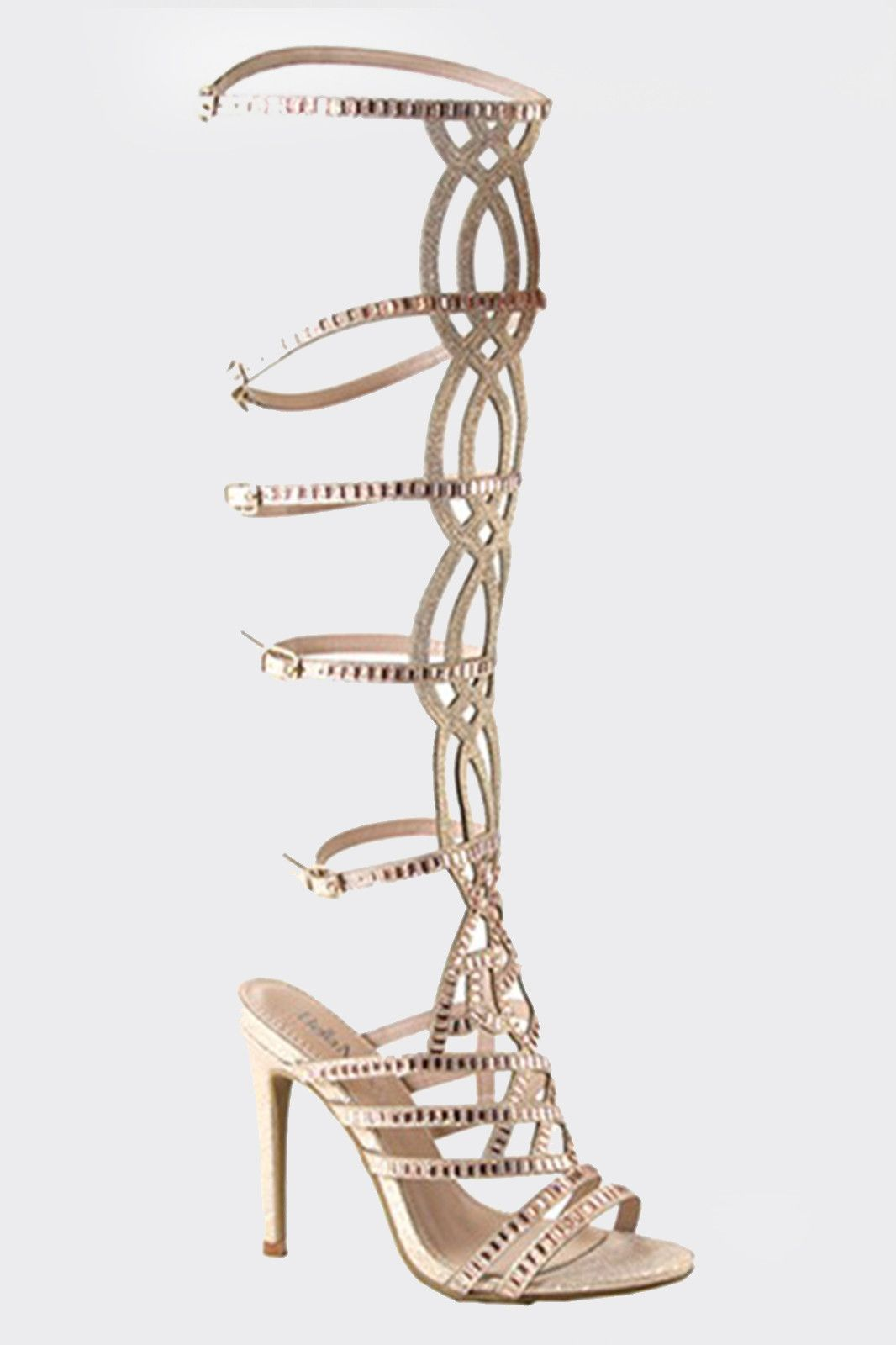 7e3dd0476a6 Knee High Glitter Gladiator Heels | Products | Gladiator heels ...