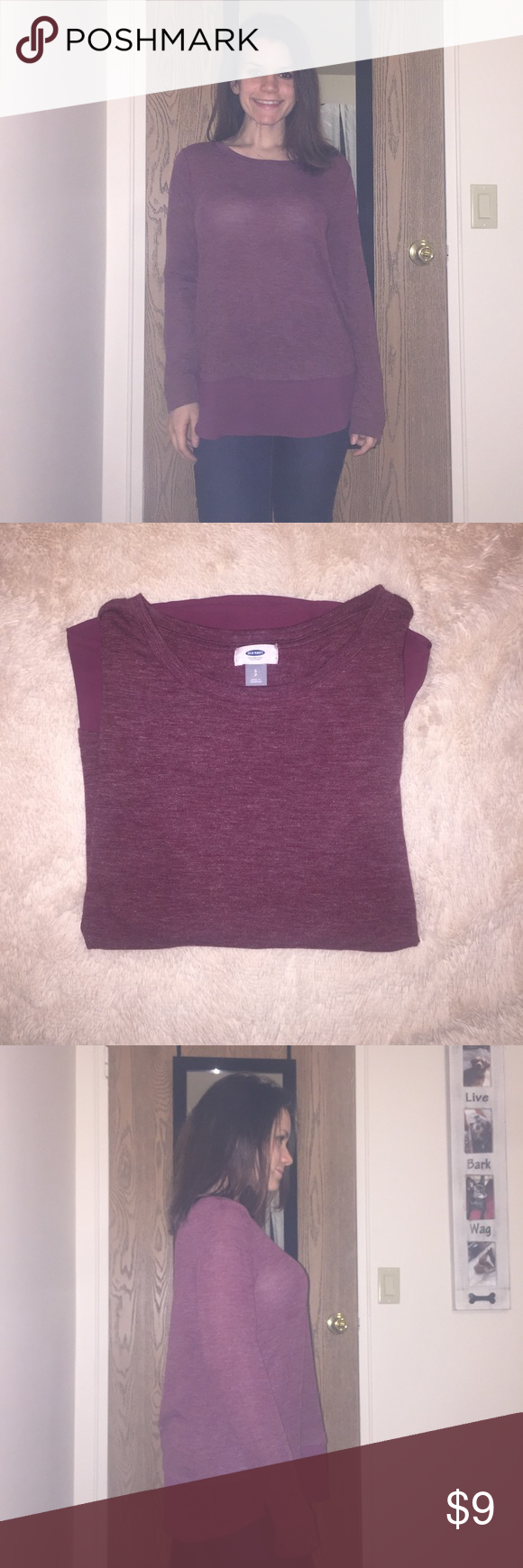 Old Navy | Long Sleeve Blouse Size: Small, Red/ 'Marin Berry'. SO soft! No wear or tear - only worn once. Old Navy Tops Tees - Long Sleeve