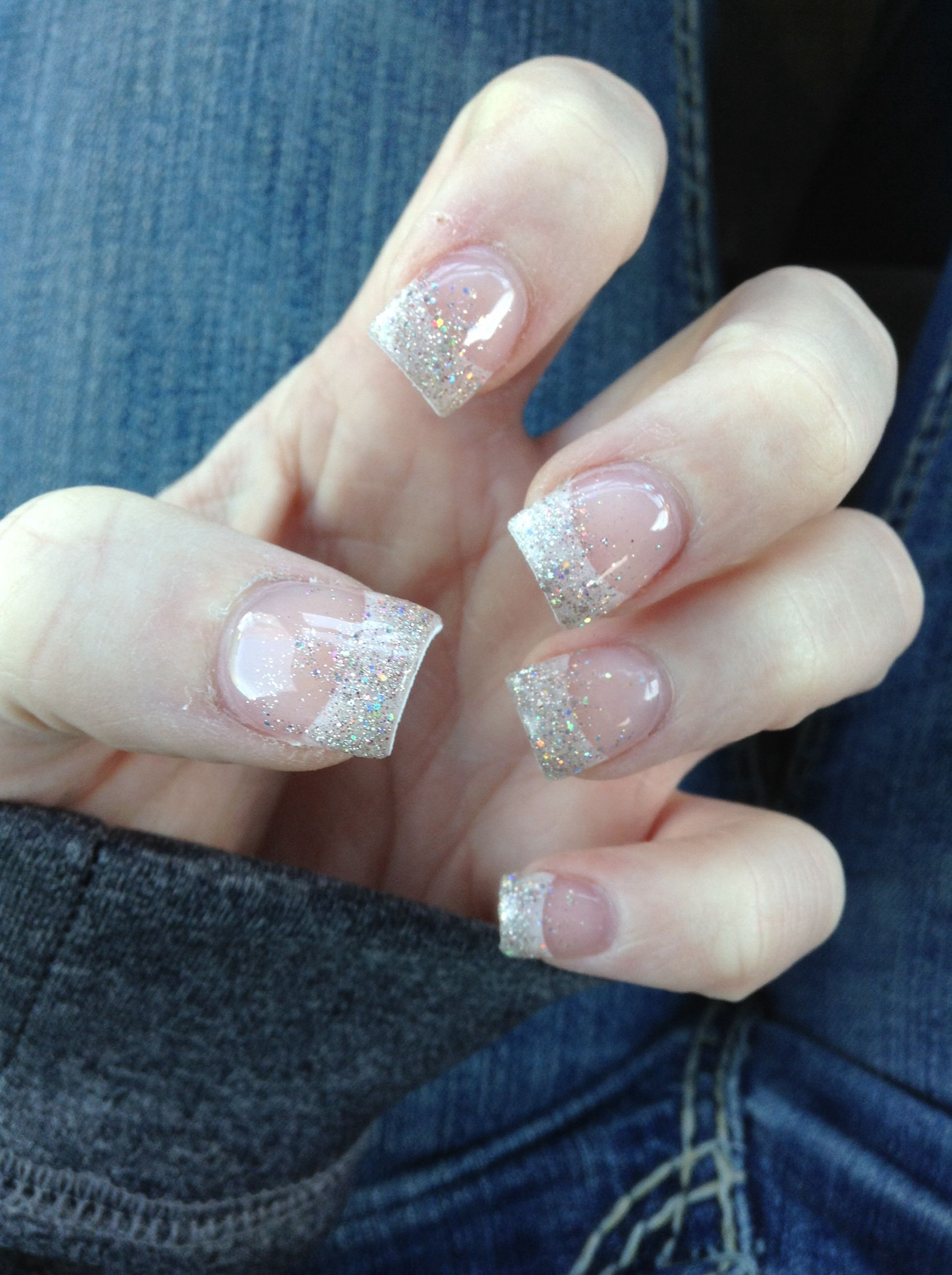 Sparkly Christmas nails :) French manicure ideas | Hair, Makeup ...