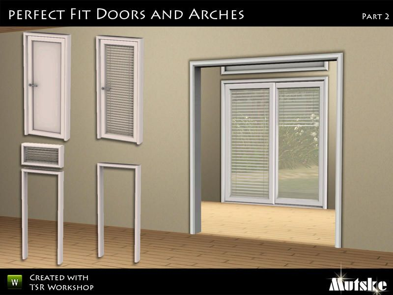 this is the set with the matching doors and arches for the perfect window there is also a slidingdoor available a set of 17 modern doors and arches and