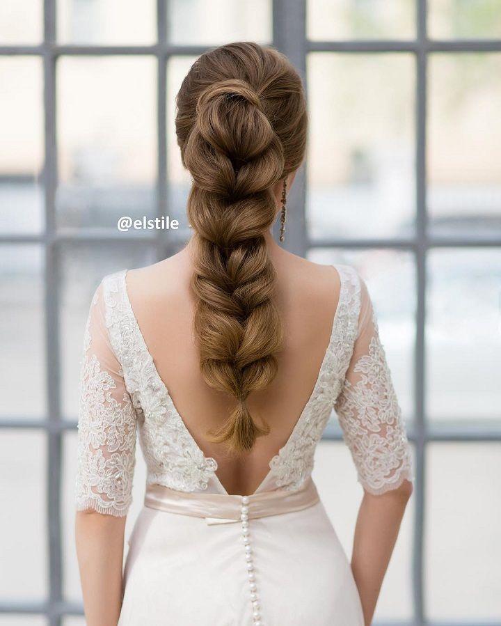 fishtail wedding hair | fabmood.com #weddinghairstyle #bridalhairstyle #fishtailbraid #bridalhairstyles