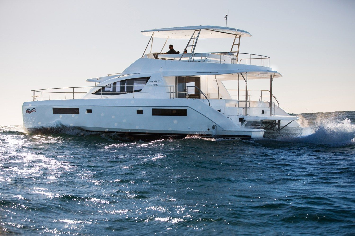 This 51-foot, 26-ton-power catamaran is just one of many yachts offered by The Moorings.
