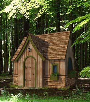 Storybook playhouse plan for the home pinterest for Whimsical cottage house plans