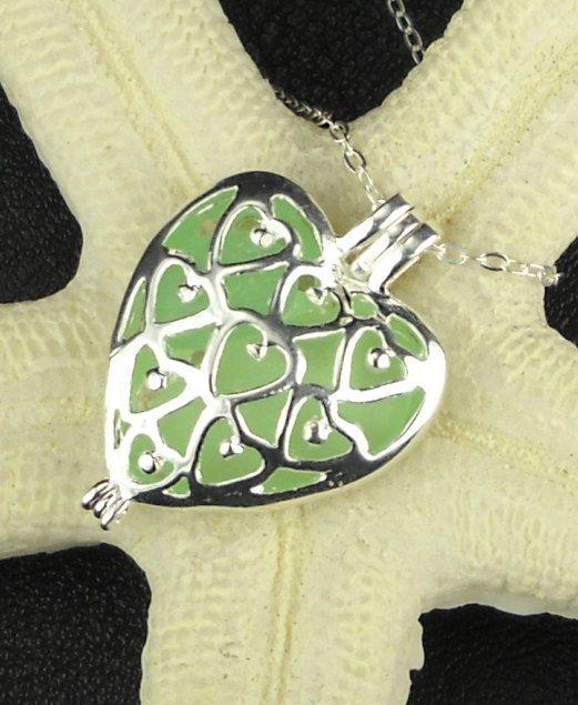 Heart Necklace Genuine Sea Foam Sea Glass by SurfsideSeaGlassGems