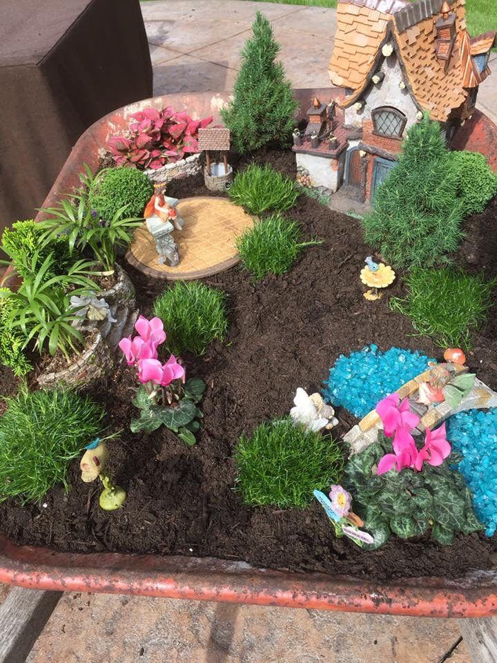 Fairy garden in wheelbarrow. | Outdoor ideas | Pinterest | Gardens ...
