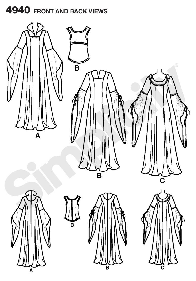 Simplicity Pattern 4940 - Belle's pink winter gown (would need
