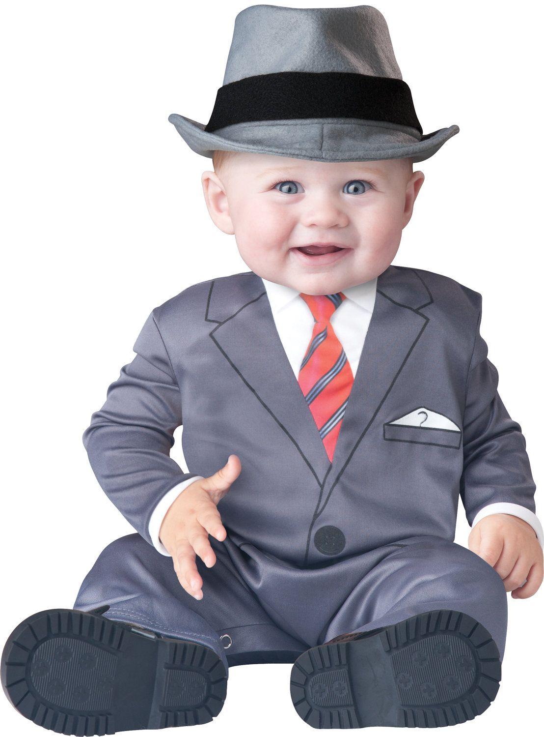 gangster baby - cute halloween costume   cute kids in costume