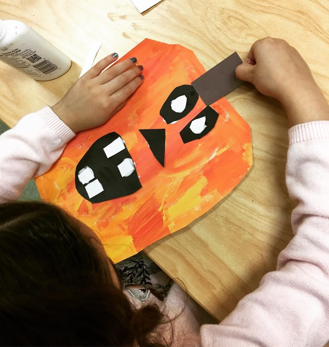 Kindergarten Explored Mixing Paint Then Used Shapes To