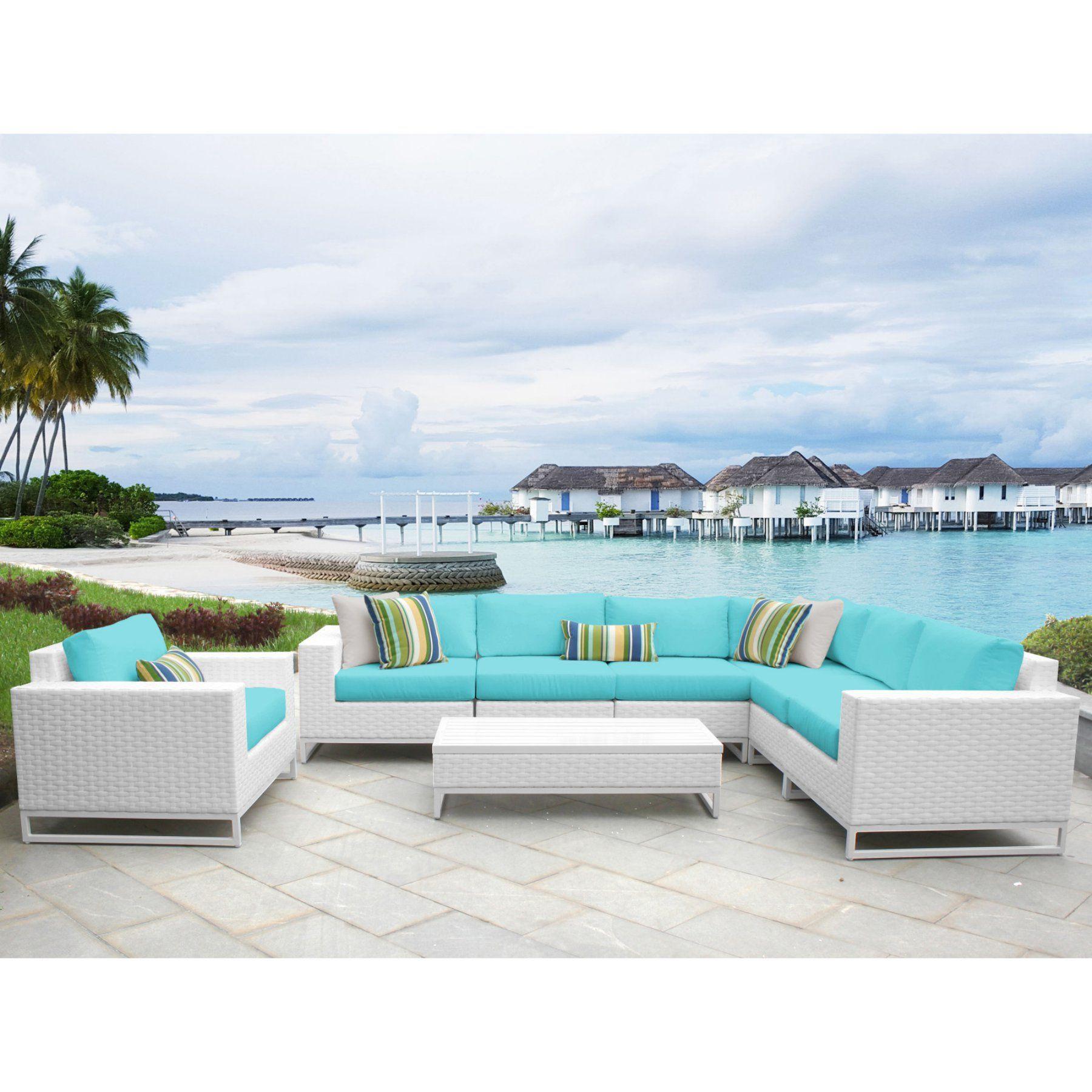 Best Tk Classics Miami Wicker 8 Piece Corner Sectional Patio 400 x 300