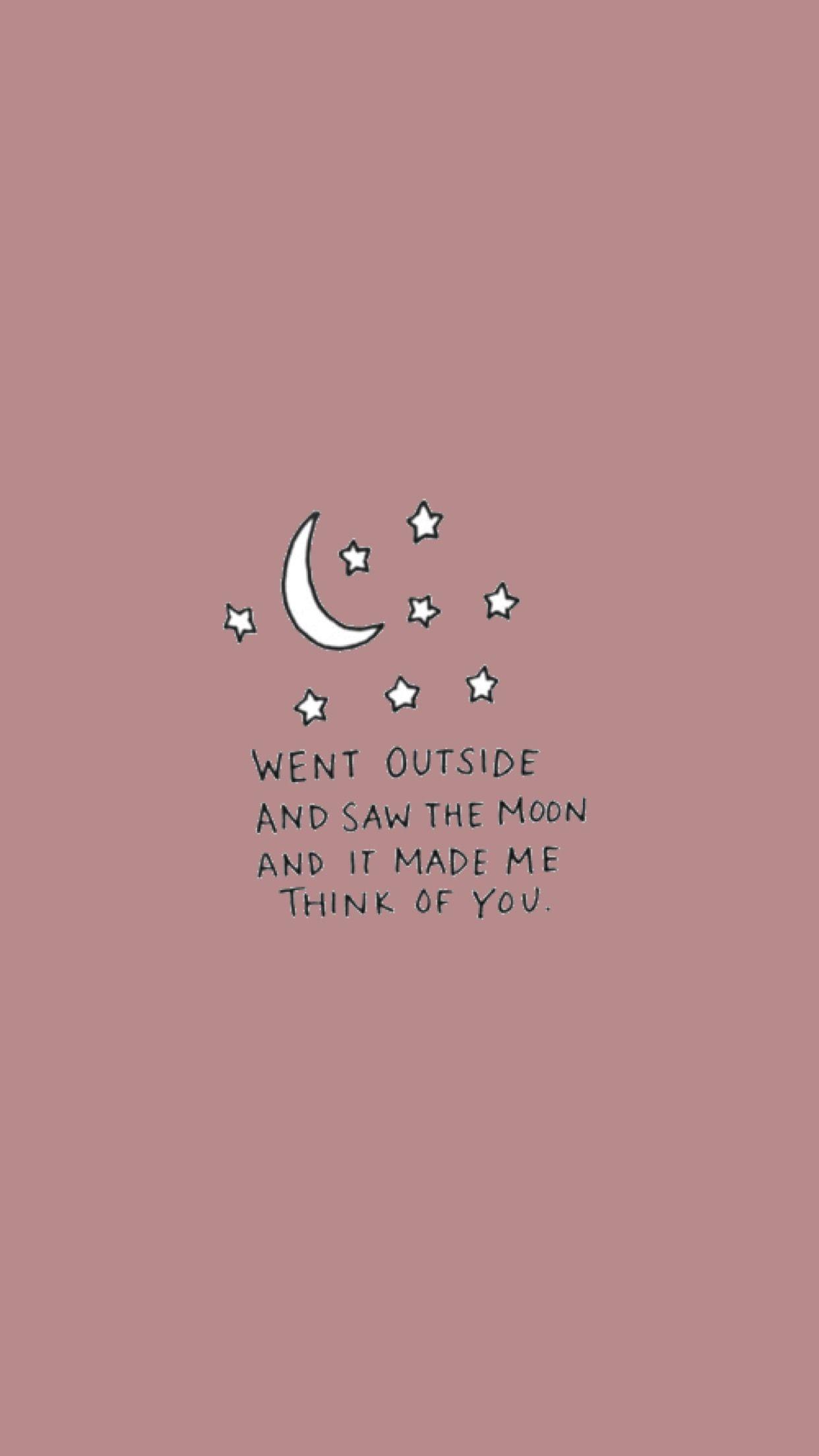 You-Moon wallpaper | made by Laurette | instagram:@laurette_evonen | Wallpapers | Cute quotes ...