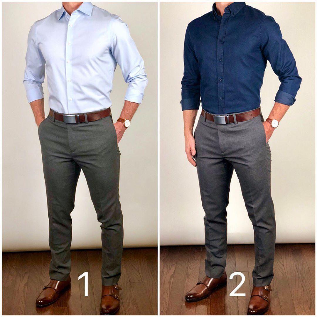 La Imagen Puede Contener Una O Varias Personas Y Personas De Pie Blue Shirt Outfit Men Shirt Outfit Men Blue Shirt Outfits [ 1080 x 1080 Pixel ]
