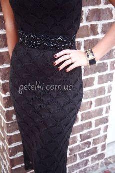 Красивый узор спицами для платья или юбки. Схема
