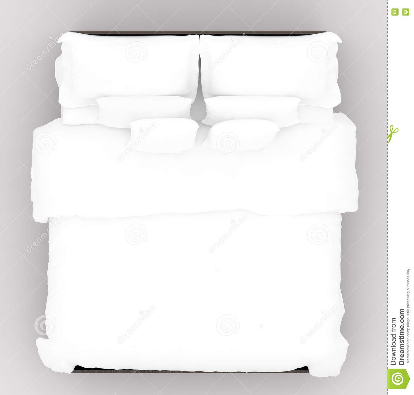 Bed With A Soft Mattress Top View Stock Illustration Image Soft Mattress Bed Top View Bed