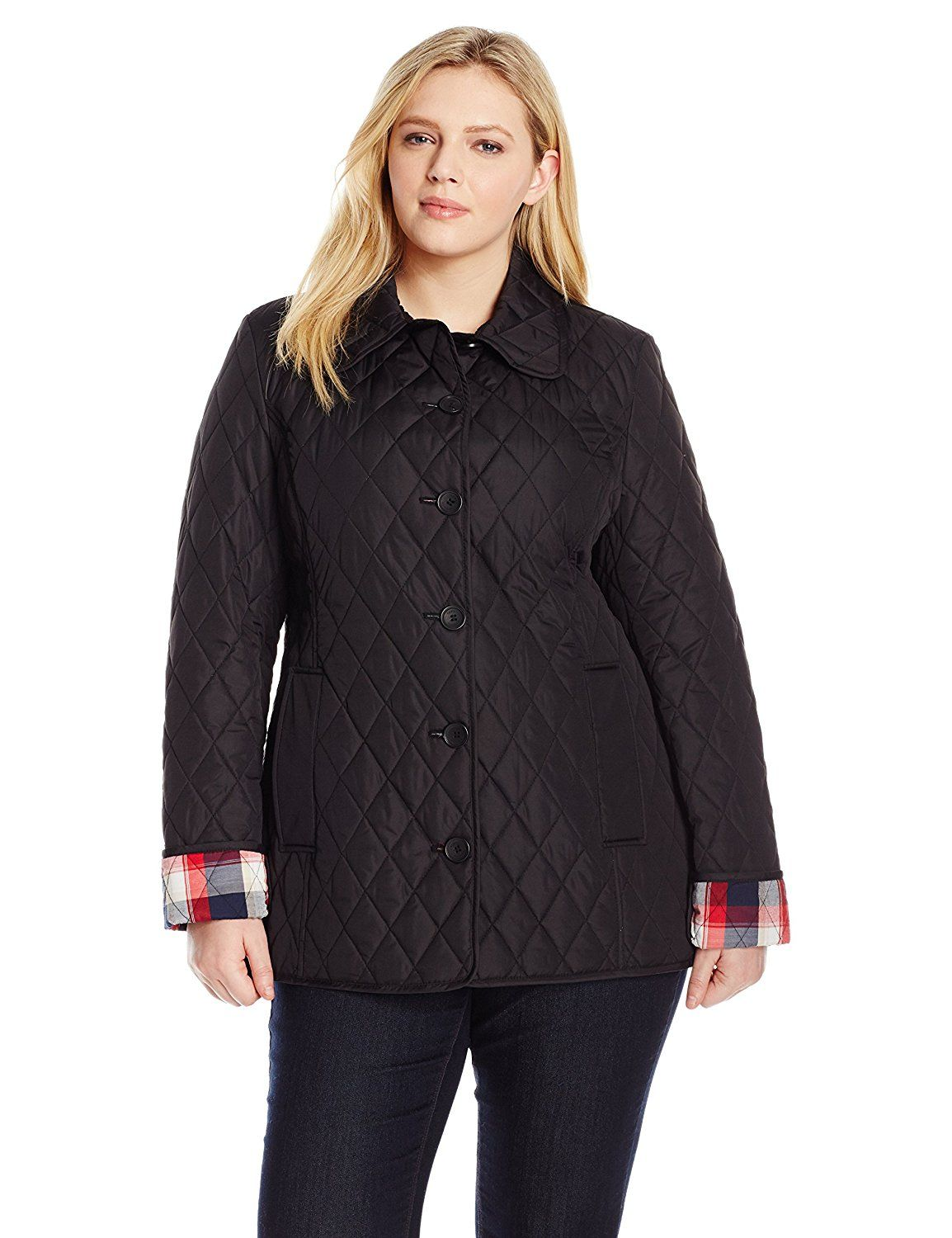 Tommy Hilfiger Women S Plus Size Quilted Jacket Check