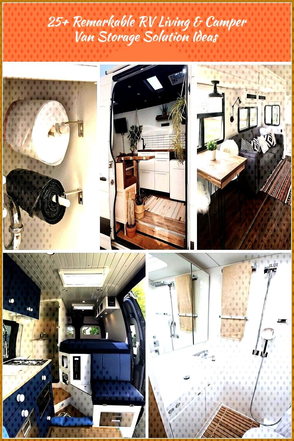 25 Remarkable RV Living 038 Camper Van Storage Solution Ideas rvliving campervan storagesolutions i