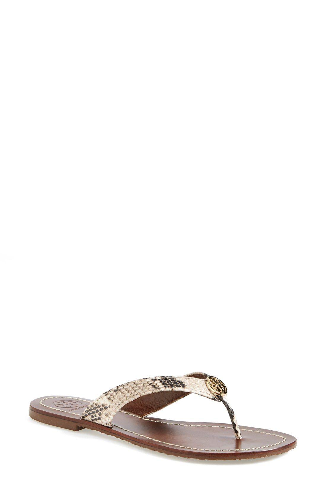 b2d4221d3c9f Tory Burch  Thora  Leather Thong Sandal (Women)