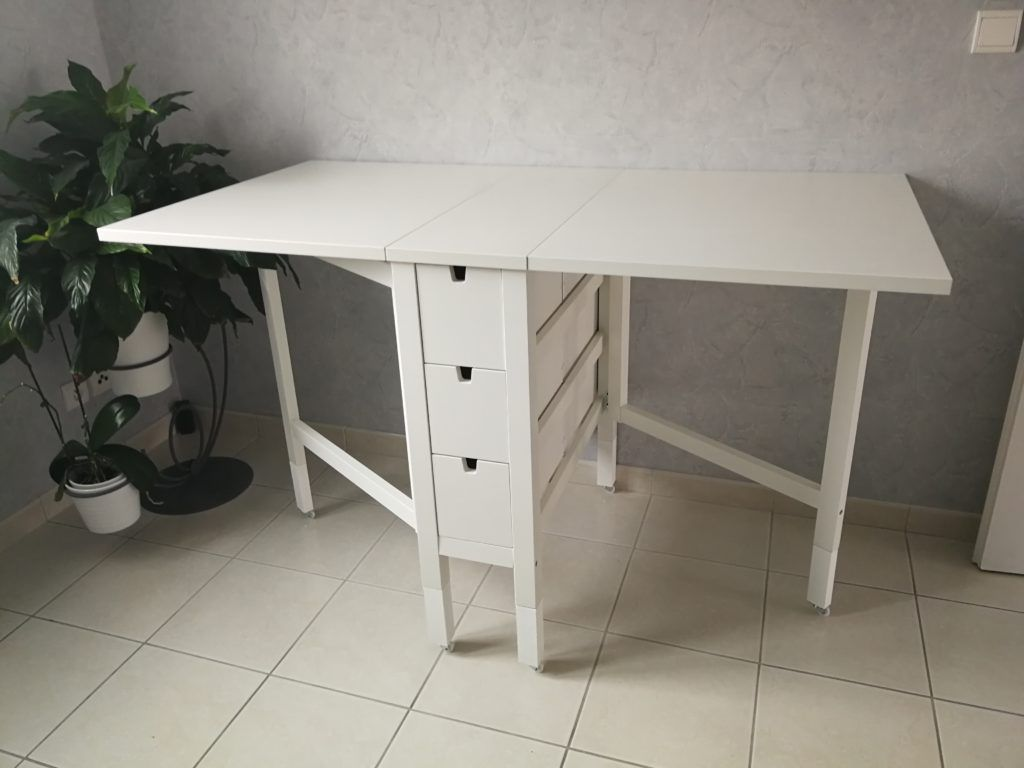 ikea hack norden table pliante