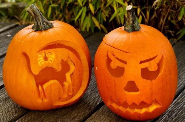 Тыква на Хэллоуин: как сделать декор к празднику упростив ...